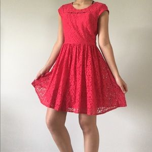 City Studio Dresses & Skirts - Red lace dress! With OPTIONAL belt!