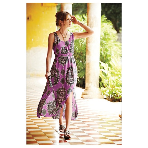 Anthropologie anthropologie annas maxi dress from for Anthropologie mural maxi dress