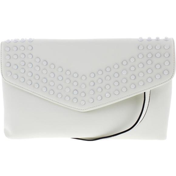 Sondra Roberts - Sondra Roberts White Clutch Handbag M from Gina's ...