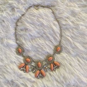 New Listing Peach&Silver Statement Necklace