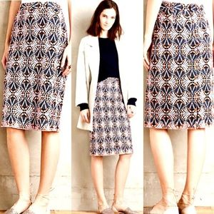 Moulinette Soeurs Lace Pencil Skirt