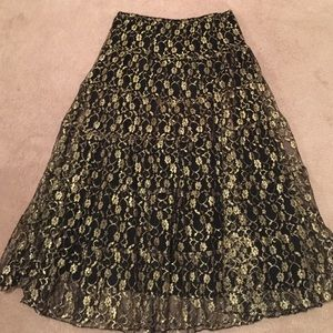 Dresses & Skirts - NWOT Floral metallic skirt
