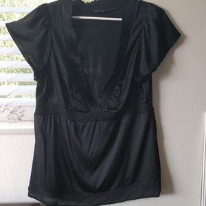 BCBGMaxAzria black blouse