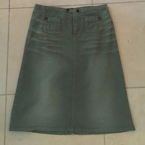 D&G Dresses & Skirts - D&G olive green acid wash pencil skirt