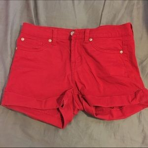 Cielo Jeans USA  Pants - Red Denim Shorts