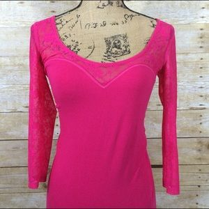 Hollister Tops - Hollister Pink Lace Top