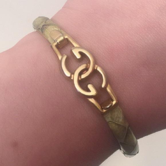 3273058bd1e Gucci Jewelry - Vintage Gucci Snakeskin GG Bangle Bracelet