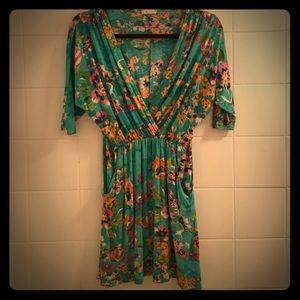 Super soft floral print Everly mini dress.