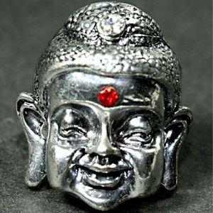 Jewelry - Silver Tone Laughing Buddha Ring