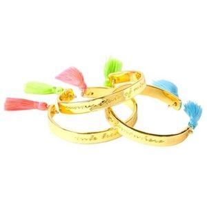 Lilly Pulitzer Gold Fringe Tassel Bracelets Set