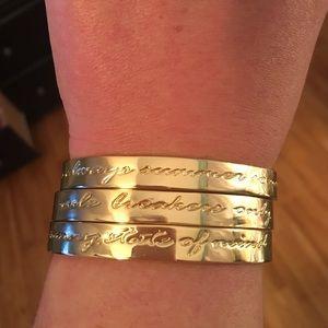 Lilly Pulitzer Jewelry - Lilly Pulitzer Gold Fringe Tassel Bracelets Set