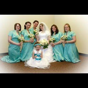 David's Bridal Dresses & Skirts - Pool Blue Brides maid dress