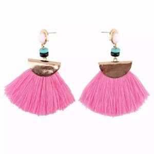 Tassel pink earrings