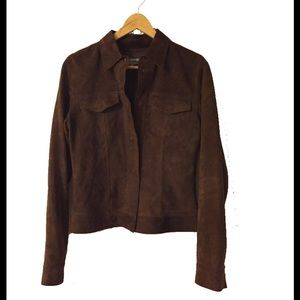 9909f159f Jigsaw Brown Suede Jacket