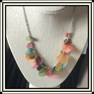 Jewelry - Colorful Shell/Tiny Coin Necklace
