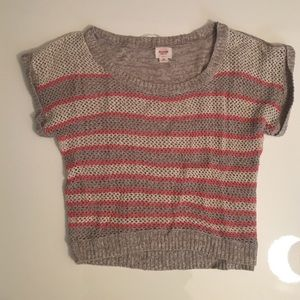 Crochet cropped sweater by MOSSIMO Sz S