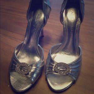 ALDO Shoes - Aldo d'orsay silver heels