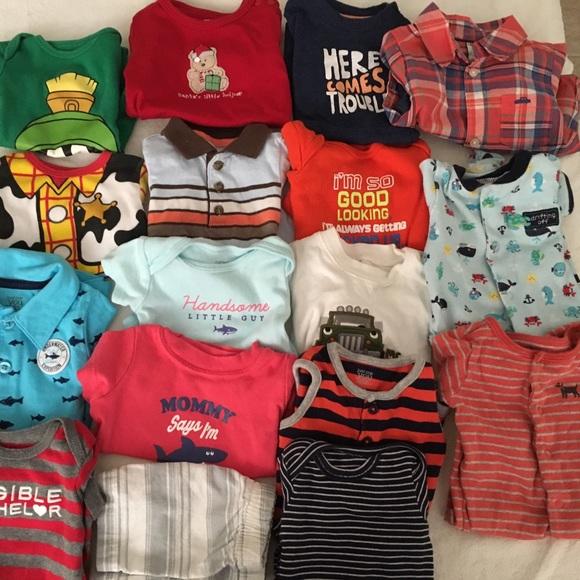 d2e951567 Newborn - 3 months baby boy clothes bundle
