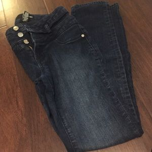 Refuge super skinny high waisted dark jeans!