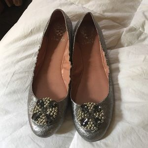 Vince Camuto Silver Flat
