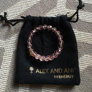 Alex & Ani Jewelry - Alex & Ani Pink Crystal Wrap Bracelet