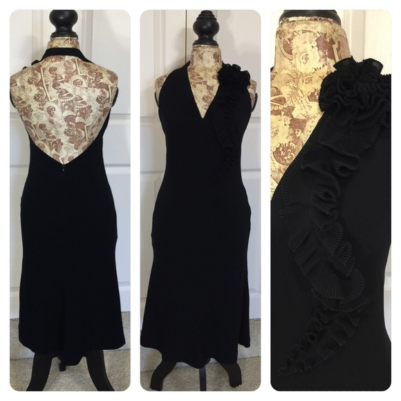 Halston - Vintage Halston halter dress from Foreverthirty&-39-s closet ...