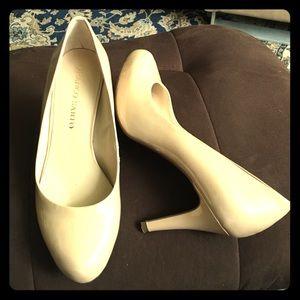 Franco Sarto Nude Patent Leather Heels