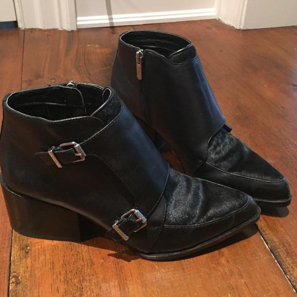 123060b840884 Circus by Sam Edelman black chunky heel booties. M 57826b2e2599fe997e003b5b