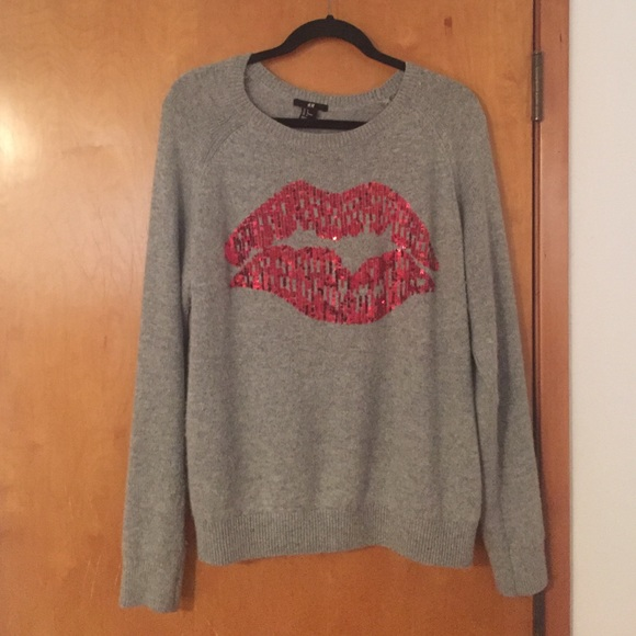 7b5accac020 H M Sweaters - H and m sweater with sequin lips