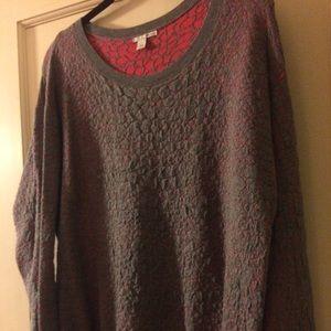 Halogen textured jacquard sweater