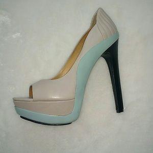 LAMB high peep toe platform heels