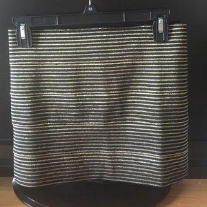 Forever 21 black & gold striped mini skirt