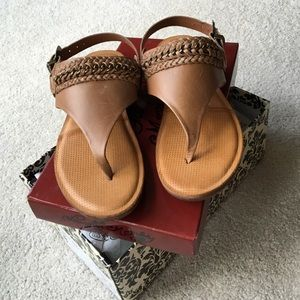 NEW leather sandals with braided detail