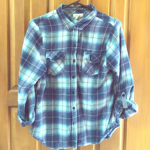 80 off love notes tops flannel plaid shirt from laurie for Love notes brand shirt