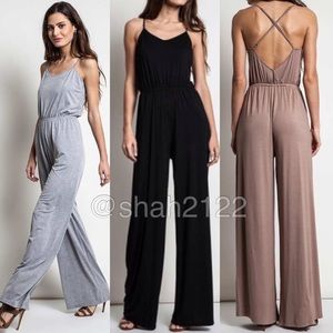 Boutique Pants - Jumpsuit jumper romper criss cross back dress pant