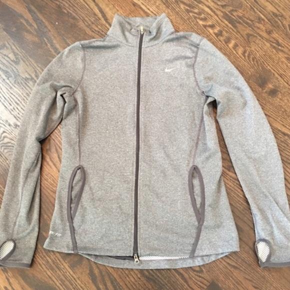 Nike dri fit zip up jacket women's