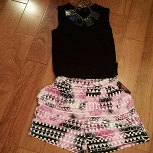 Aztec multi colored shorts.  NWOT * price firm*