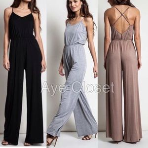 Sexy wide leg pants jumpsuit romper jumper dress