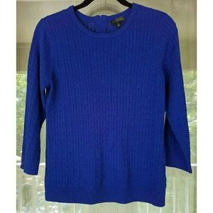 The Limited Sweaters - Blue quarter sleeve sweater