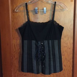 Black Orchid Tops - Black Orchid Corset Look Cami