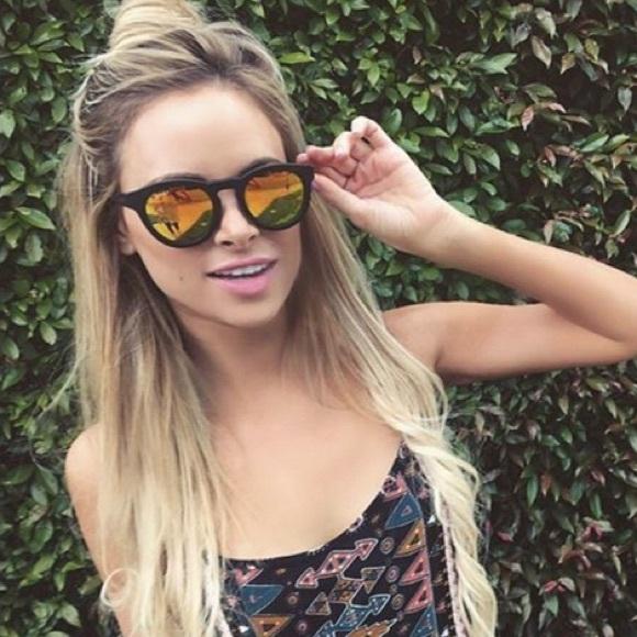 ca4c903f35 Diff Accessories - Diff Eyewear Dime II Sunglasses Matte Black  Gold