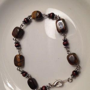 Handmade Jewelry - Stone & Wood Bracelet