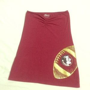 Tops - FSU Seminoles tube top garnet Small