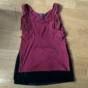 Deletta maroon sleeveless top
