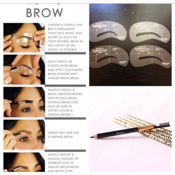 Unbranded Makeup Final Sale4 Pcs Of Eyebrow Stencils Poshmark