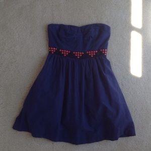 Floreat by Anthropologie Blue Strapless Sz0 Dress
