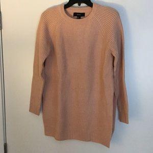 Forever 21 blush pink side-slit sweater. Size SM