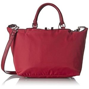 French Connection Piper Red Lined Tote Handbag.