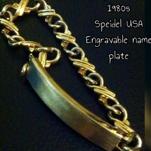 speidel Jewelry - Gold plated Engravable id bracelet