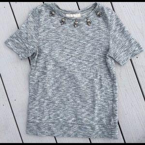 LOFT Embellished Sweatshirt Tee